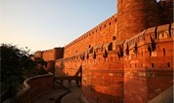 The Agra Fort - a UNESCO World Heritage site located in Agra, Uttar Pradesh, India.