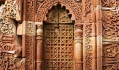 Arabic script around the small side door to Humayun's Tomb, Delhi, India