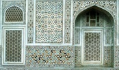 indian architectural ornament - Tomb of Itimad-ud-Daulah