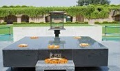 Raj Ghat is the memorial constructed in the memory of Late Mahatma Gandhi.