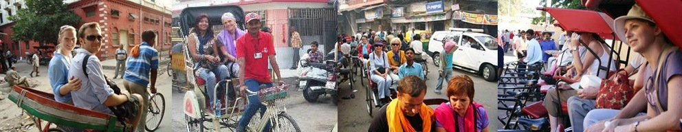 Rickshaw ride in Jaipur with Golden Triangle Group Tour India